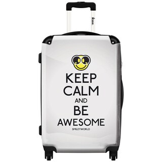 Murano by iKase Keep Calm by Smiley 24-inch Hardside Spinner Upright Suitcase
