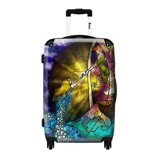 iKase Rescue Mermaid Art 24-inch Hardside Spinner Upright Suitcase