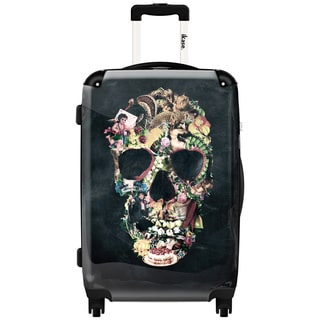 iKase Antique Art Skull 24-inch Hardside Spinner Upright Suitcase