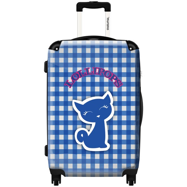 Murano by iKase Blue Picnic by Lollipops 24-inch Hardside Spinner Upright Suitcase