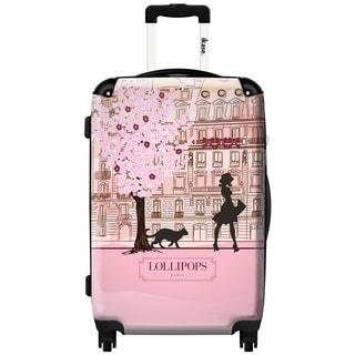 iKase Pink Lollipops 24-inch Hardside Spinner Upright Suitcase