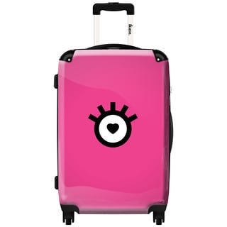 Murano by iKase Heart Eye Pink 24-inch Hardside Spinner Upright Suitcase