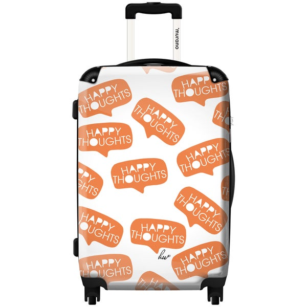 Murano by iKase Happy Thoughts 24-inch Hardside Spinner Upright Suitcase