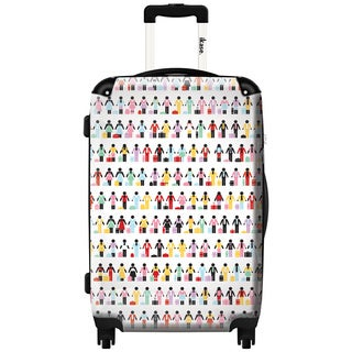 Murano by iKase Hand in Hand Multicolor 24-inch Hardside Spinner Upright Suitcase