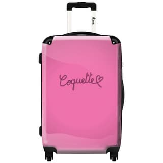 iKase Be Coquette Pink 24-inch Hardside Spinner Upright Suitcase