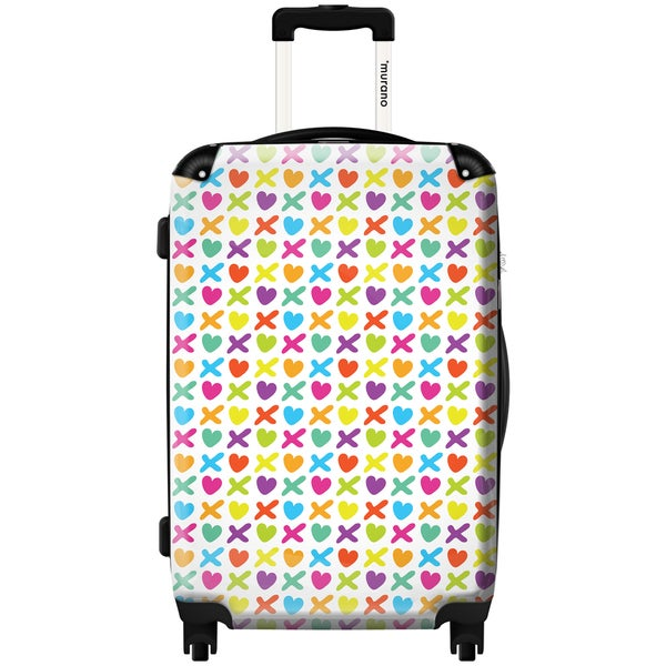 Murano by iKase Love X Multi-Color 24-inch Hardside Spinner Upright Suitcase