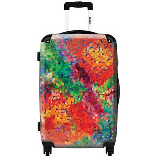 Murano by iKase Water Color Splash 24-inch Hardside Spinner Upright Suitcase
