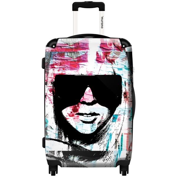 Murano by iKase Lady Gaga Pop Art 24-inch Hardside Spinner Upright Suitcase