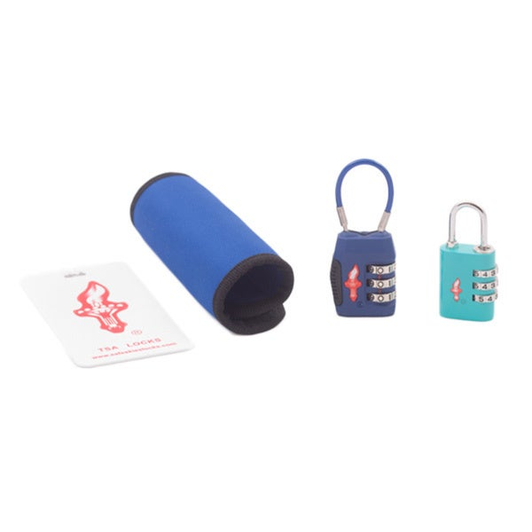 Safe Skies Blue TSA Luggage Lock Set