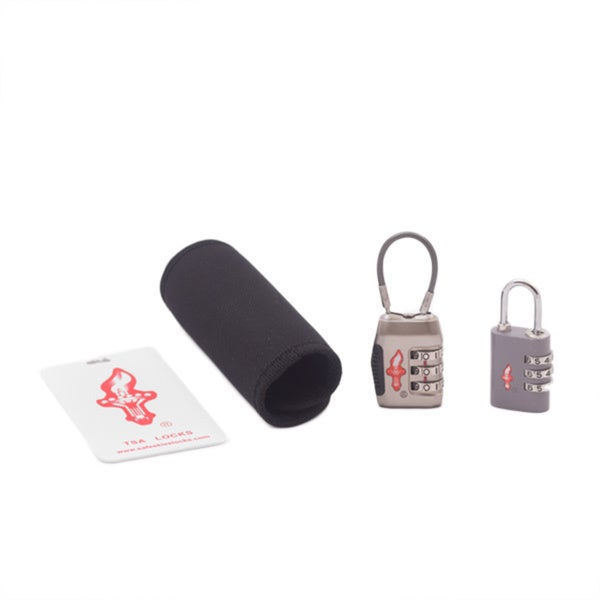 Safe Skies Silver TSA Luggage Lock Set