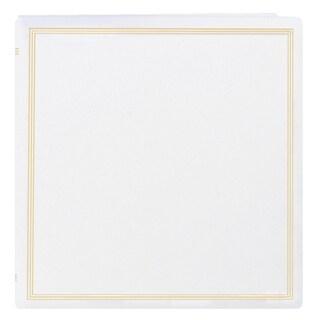 Pioneer Postbound Deluxe White Leatherette X-Pando Magnetic Album (2 Bonus Refill Packs)