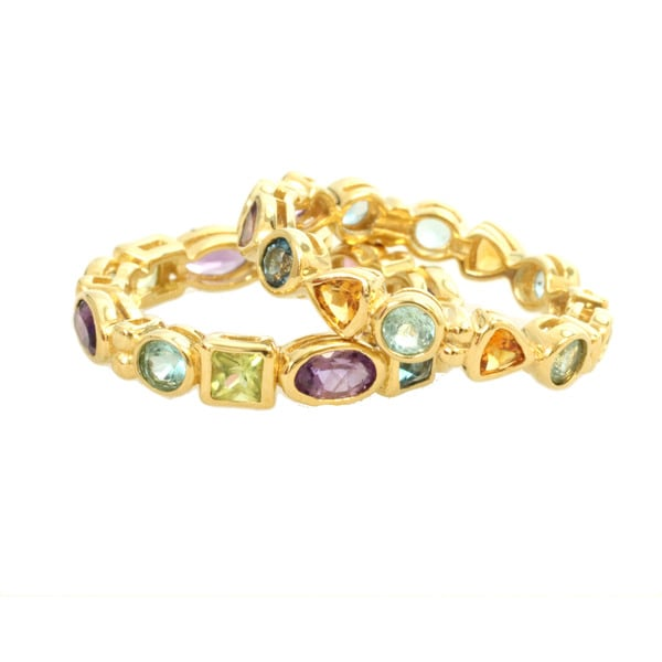 Michael Valitutti Multi-gemstone Stacking Ring Set