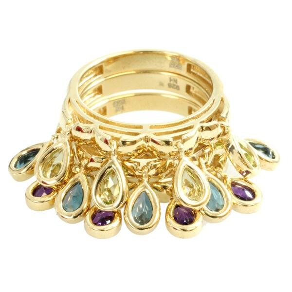 Michael Valitutti Multi-gemstone Stacking Ring Set