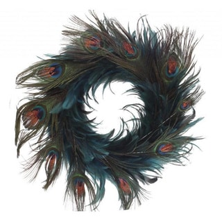 Handmade 18-inch Hackle Peacock Wreath