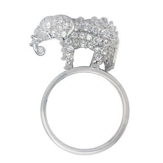 Michael Valitutti Large 'Elephant' Cubic Zirconia Stacking Ring