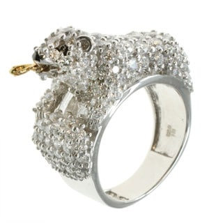 Michael Valitutti 'Polar Bear' Cubic Zirconia Ring
