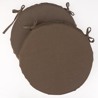 Dunes Club Cocoa Brown Solid Bistro Cushions (Set of 2)