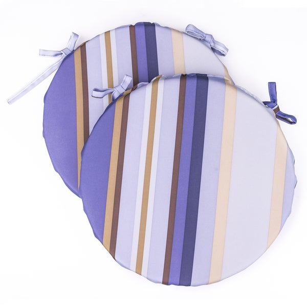 Dunes Club Purple Multi Stripe Bistro Cushions (Set of 2)
