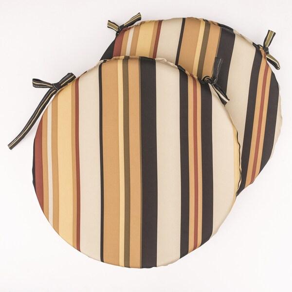 Dunes Club Black Multi Stripe Bistro Cushions (Set of 2)