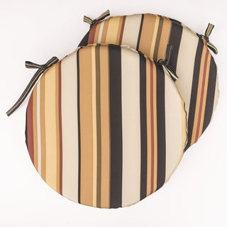 Dunes Club Black Multi Stripe Bistro Cushions (Set of 2)