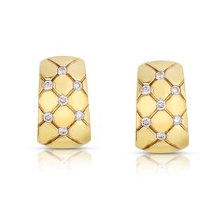 Eloquence 18k Yellow Gold 1/4ct TDW White Diamond Cuff Earrings (H-I, SI1-SI2)