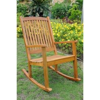 International Caravan Royal Fiji Acacia Hardwood Rocking Chair