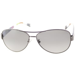 Coach Women's Kristina Dark Silver Aviator Sunglasses