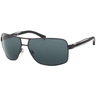 Emporio Armani Men's Black Metal Sunglasses
