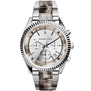 Michael Kors Women's MK5962 Clarkson Silvertone Chronograph Watch