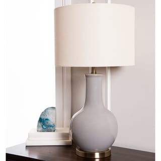 Abbyson Gourd Grey Ceramic 29.5-inch Table Lamp