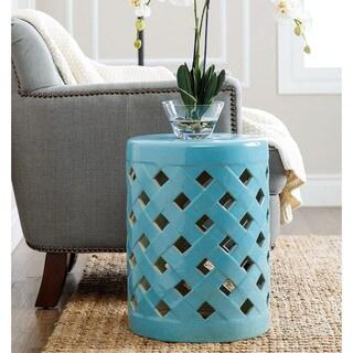 ABBYSON LIVING Capiz Blue Ceramic Garden Stool