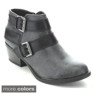Soda New Women's Buckle Strap Ankle Booties