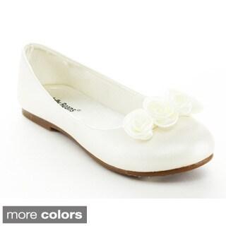 Jelly Beans Mosha Kid's Big Girl Flower Deco Ballet Flats