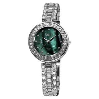 Burgi Women's Mother of Pearl Diamond Bracelet Watch
