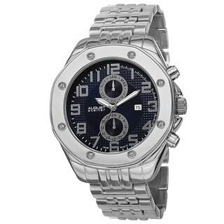 August Steiner Men's Swiss Quartz Dual Time Zone Multifunction Bracelet Watch