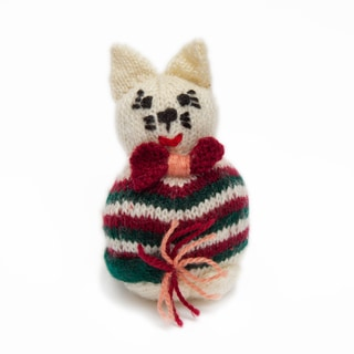 Sitara Collections Handmade Plush Cat (India)