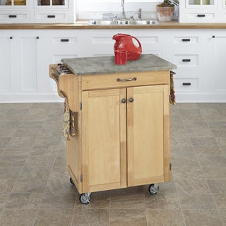 Home Styles Cuisine Cart with Concrete Top