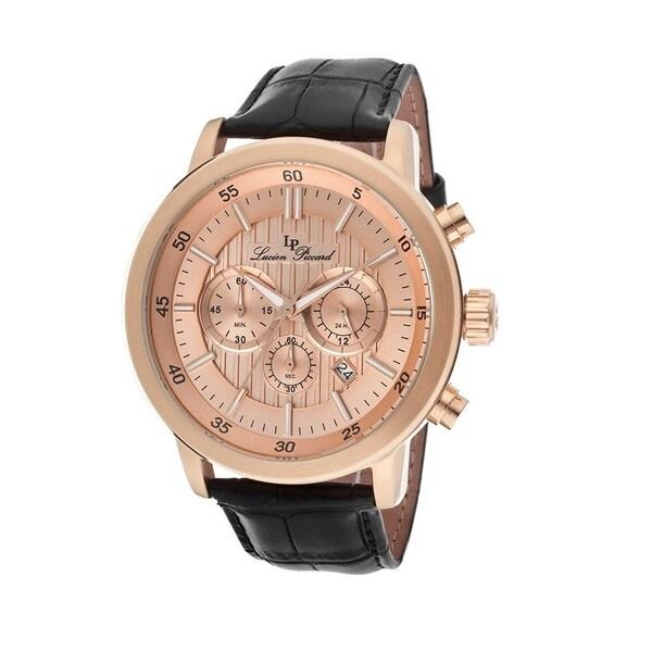Lucien Piccard Men's LP-12011-RG-09 Monte Viso Rose Goldtone Watch