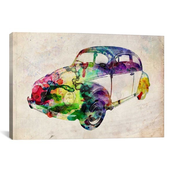 iCanvas Michael Thompsett VW Beetle (Urban) Canvas Print Wall Art