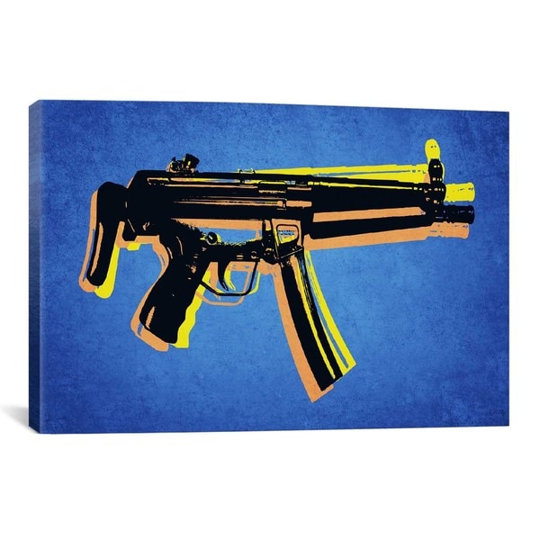 iCanvas Michael Thompsett MP5 SubMachine Gun Canvas Print Wall Art