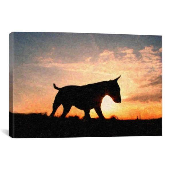 iCanvas Michael Thompsett English Bull Terrier Canvas Print Wall Art