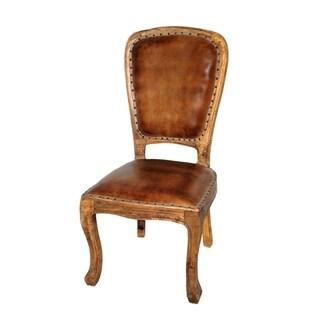 Napa Leather Wood Chair