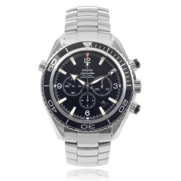 Omega 'Planet Ocean' 2210-50 Stainless Steel Chronograph Link Watch