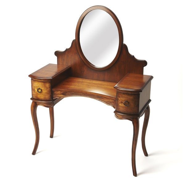 Wood Burl Vanity/ Dressing Table