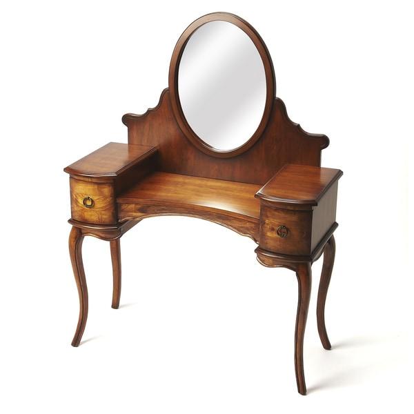 Wood Burl Vanity/ Dressing Table