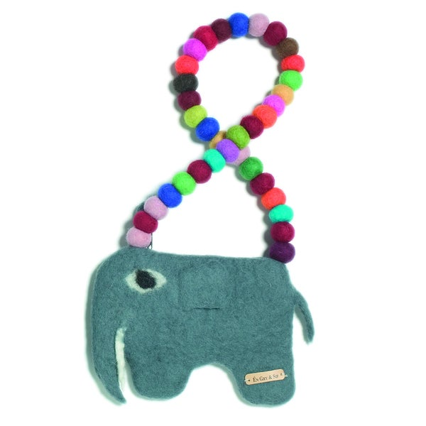 Children's Felt Elephant Purse (Denmark)