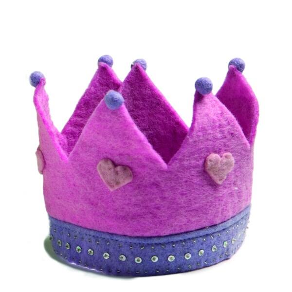 Children's Felted Pink Crown (Denmark)