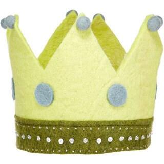 Children's Felted Green Toy Crown (Denmark)