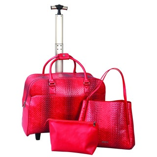 Janome Abbacino Leather Red Bag Trio