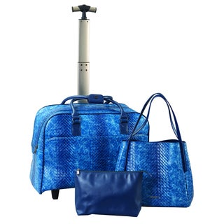 Janome 3-piece Abbacino Blue Sewing Tote Set